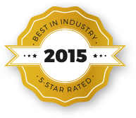 Best In Industry | 5 Star Rated | 2015